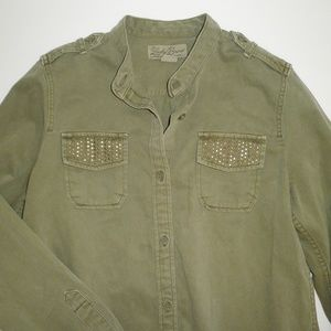 Lucky Brand Military GREEN Utility Shirt Jacket